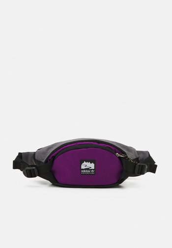 WAISTBAG S UNISEX - Bum bag - black/glory purple/white
