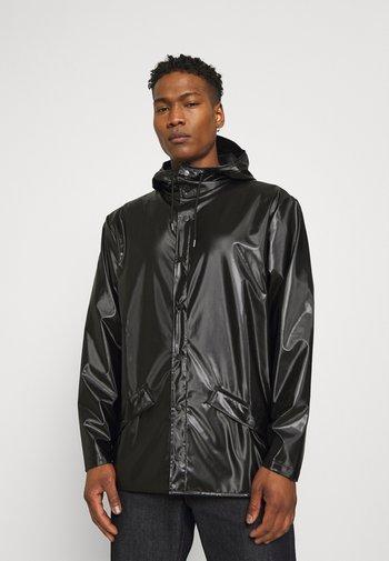 JACKET UNISEX - Waterproof jacket - shiny black