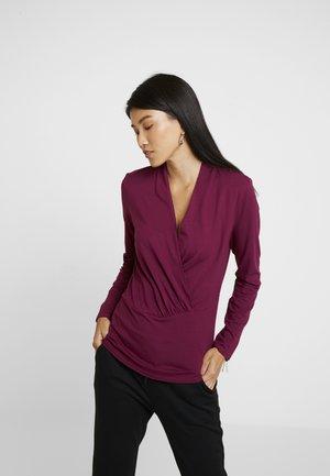 WRAP - Long sleeved top - garnet red