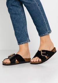 ONLY SHOES - ONLMATHILDA SLIP ON - Slippers - black - 0