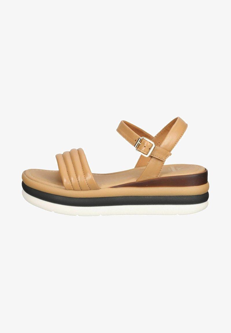 Sansibar Shoes - Sandały na platformie - mittelbraun