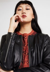 ONLY - ONLNEWMONA JACKET - Faux leather jacket - black - 3