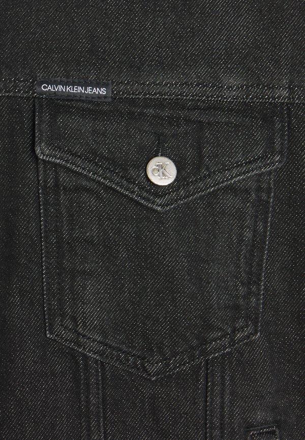 Calvin Klein Jeans DAD JACKET - Kurtka jeansowa - denim black/czarny denim Odzież Męska BEOQ