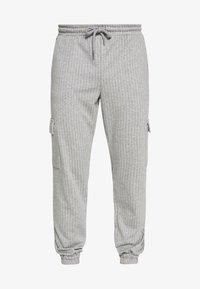 Brooklyn Supply Co. - PINSTRIPE CARGO - Tracksuit bottoms - grey - 3