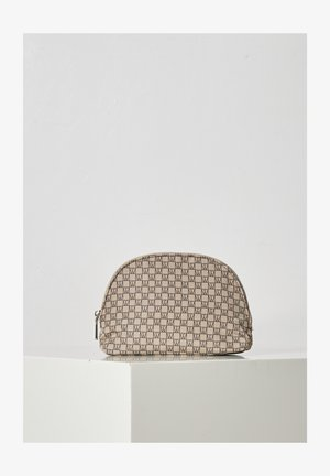 Wash bag - iw logo beige/black