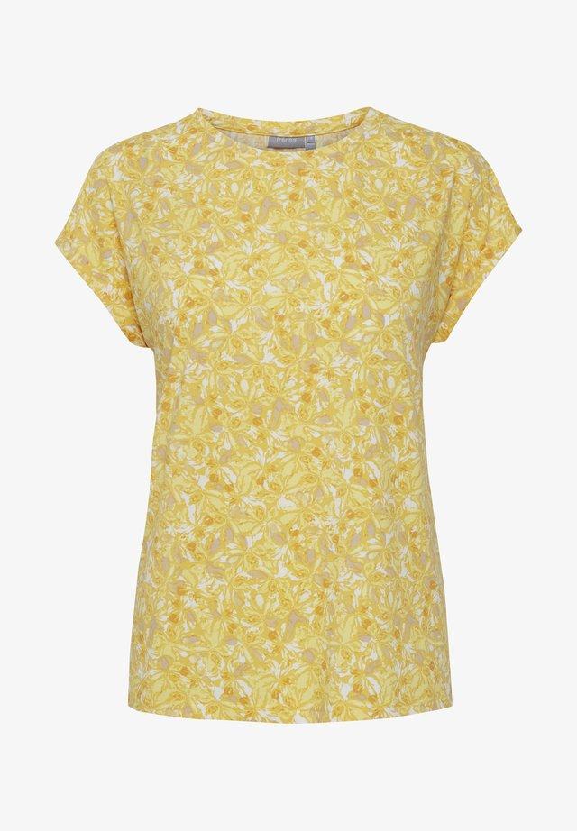 T-shirt med print - ochre mix