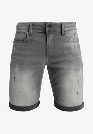3301 Slim - Jeansshorts - slander grey superstretch
