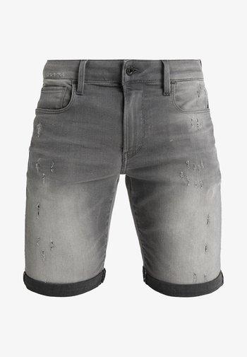 3301 Slim - Jeansshorts - slander grey superstretch