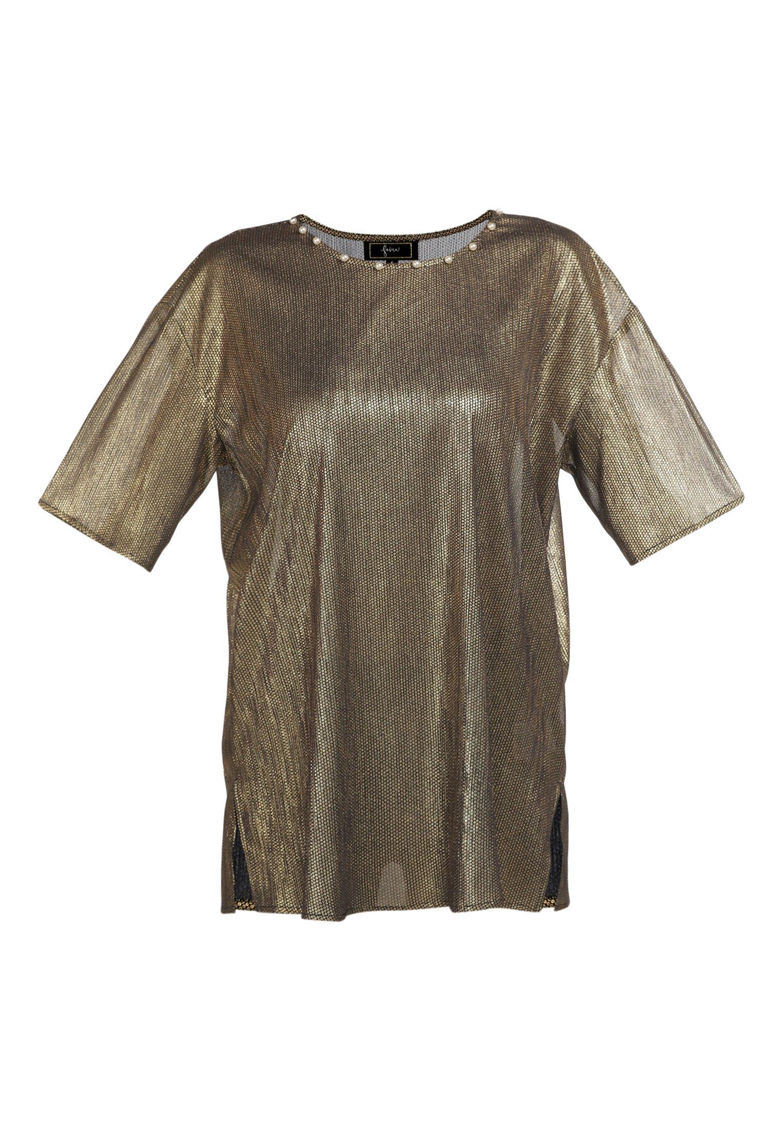 Safe Payment Women's Clothing faina Tunic schwarz gold HUK9jfUZZ