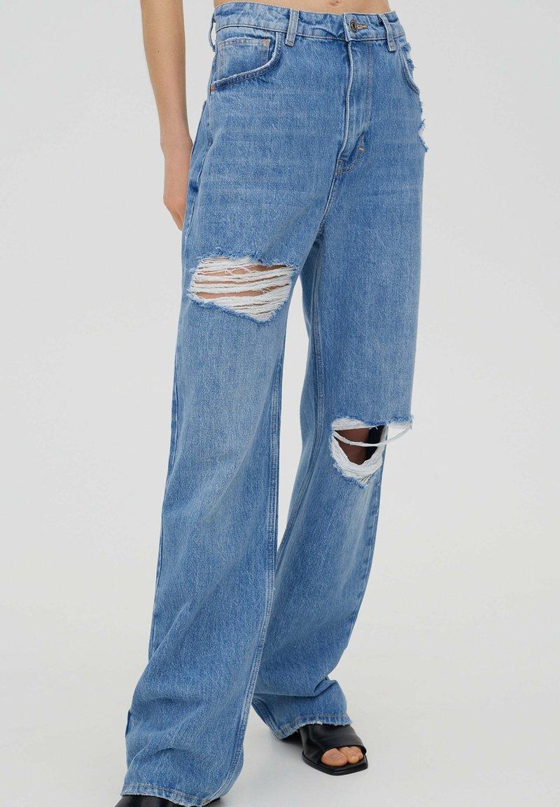 PULL&BEAR - Jeans Straight Leg - stone blue denim