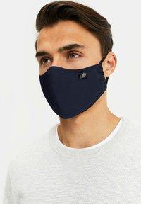 WE Fashion - Stoffen mondkapje - dark blue - 3