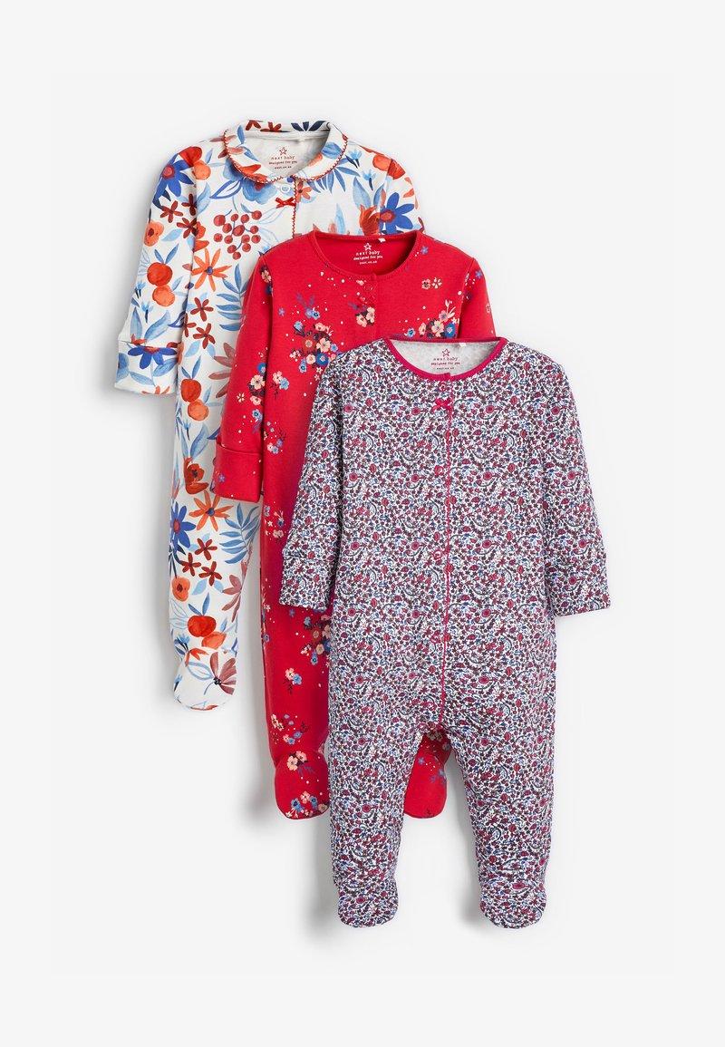 Next - 3 PACK FLORAL  - Sleep suit - red
