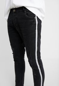 Brave Soul - RONNIERIP - Jeans Skinny Fit - charcoal wash - 4