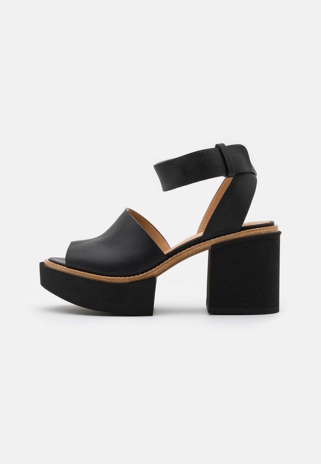 JAMANXIM - Sandały na platformie - black