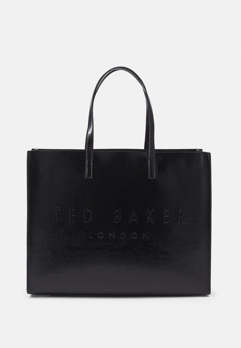 Ted Baker - AEVACON CRINKLE PATENT EMBOSSED XHATCH ICON - Tote bag - black