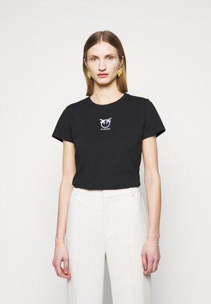 BUSSOLANO  - Print T-shirt - black