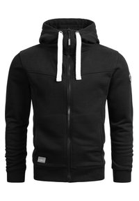 Alessandro Salvarini - Zip-up sweatshirt - schwarz - 3