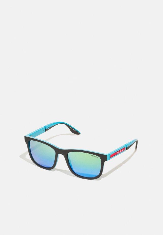 Sluneční brýle - black rubber/turquoise