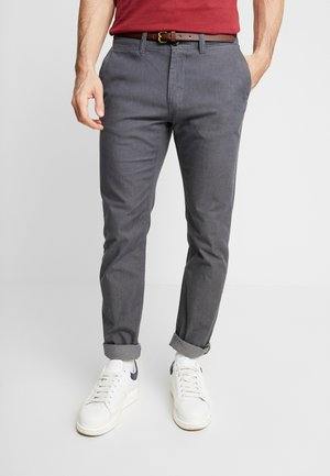 WASHED STRUCTURE - Chinos - grey