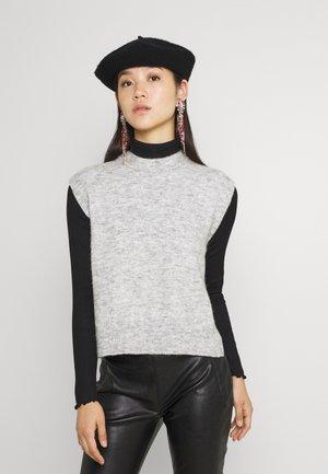 YASALVA VEST - T-shirt basic - light grey melange