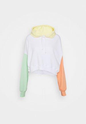 COLORBLOCKED CROPPED - Sweatshirt - white