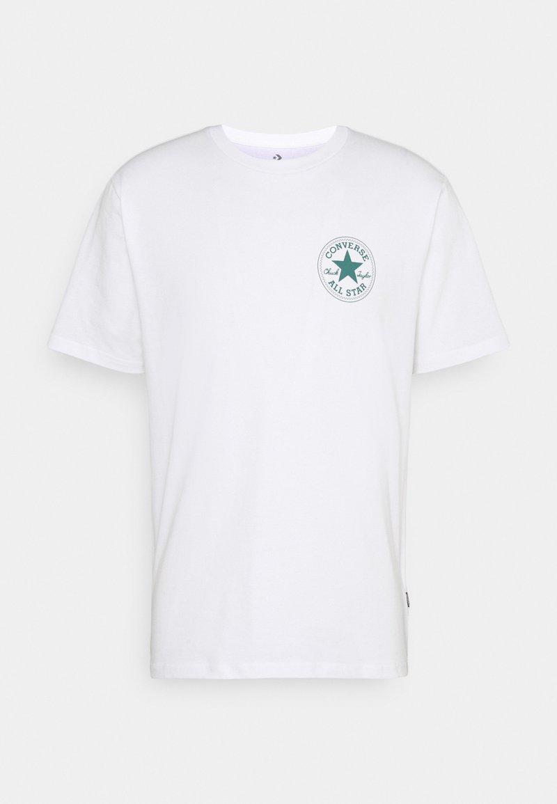 Converse - PUFFED CHUCK PATCH SHORT SLEEVE TEE - Print T-shirt - white