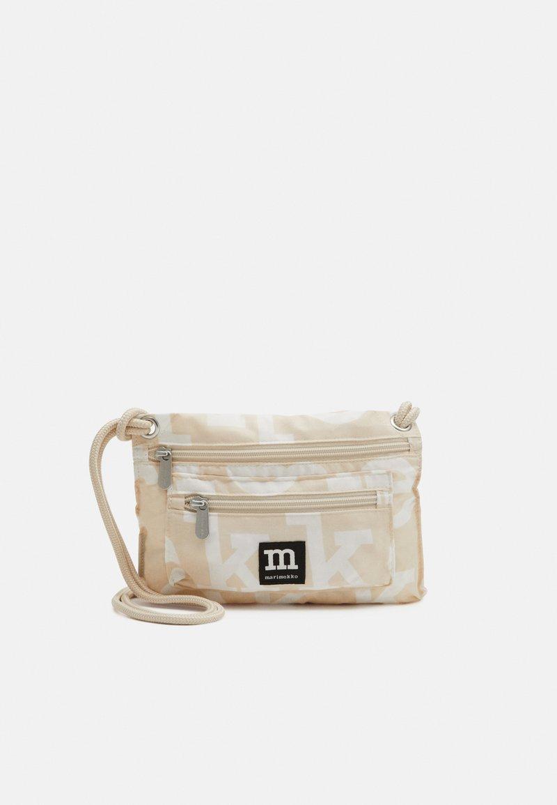 Marimekko - SMART TRAVELBAG LOGO BAG - Across body bag - beige/off-white