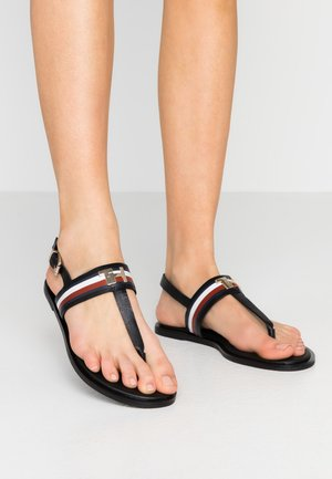 JULIA 93A - T-bar sandals - black