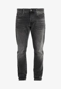 3301 SLIM - Jeans slim fit - nero black stretch denim - antic charcoal