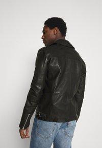 Goosecraft - BERLINER BIKER - Leather jacket - black - 2