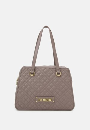 QUILTED SHOPPER - Tote bag - grigio