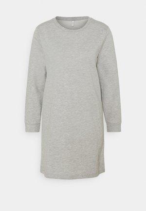 ONLDREAMER LIFE CREW NECK DRESS - Denní šaty - light grey melange