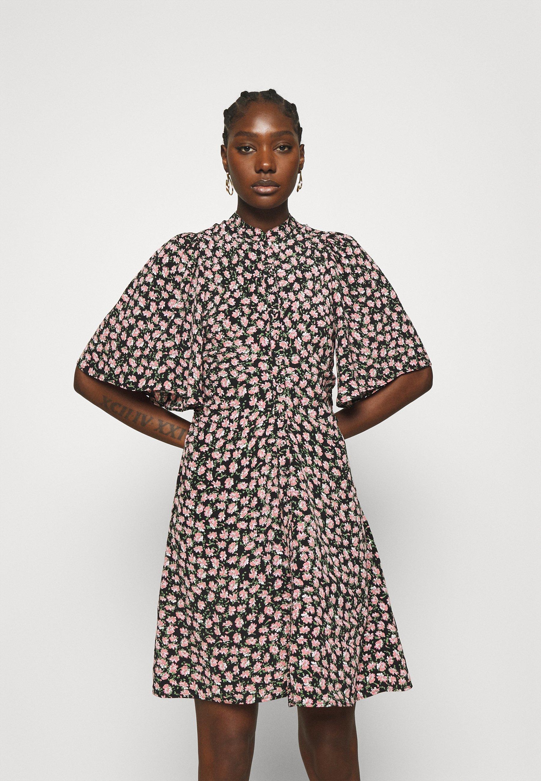 Women SUMMER BUTTON DOWN MINI DRESS - Shirt dress