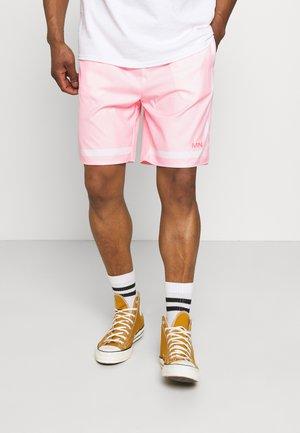 CONTRAST STRIPE - Shorts - pink