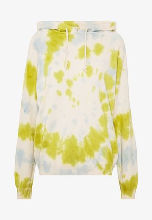 TIE DYE HOODED SWEATER - Bluza z kapturem - lime