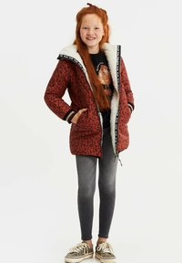 WE Fashion - MET CAPUCHON REVERSIBLE - Winter coat - terra cotta - 0