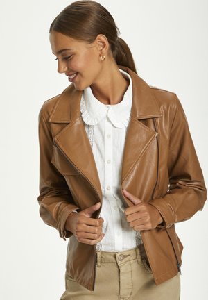 Faux leather jacket - rawhide