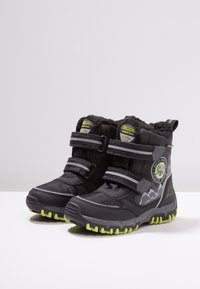 Kappa - RESCUE TEX - Winter boots - black/lime - 3