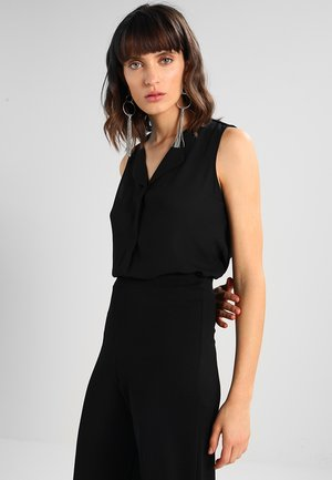 VILUCY - Button-down blouse - black