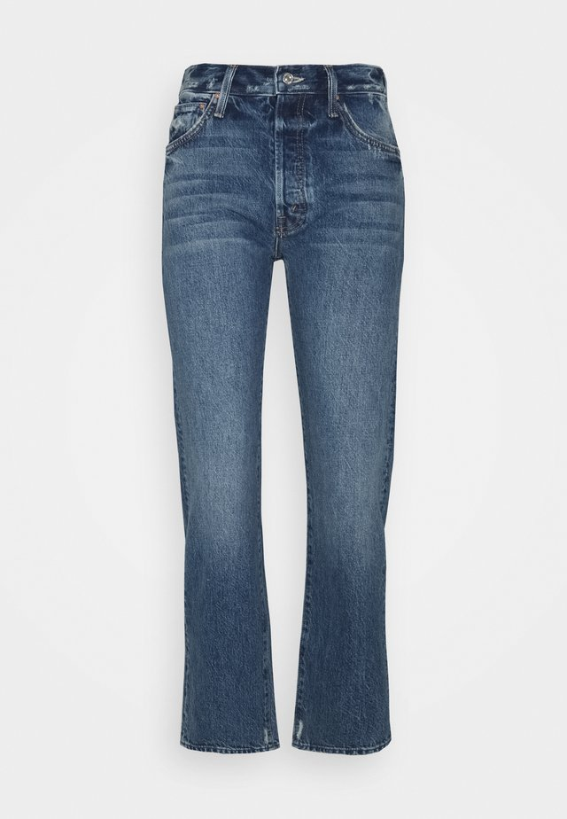 HIGH WAISTED HIKER HOVER - Jean droit - blue denim