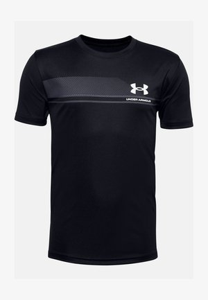 UA TECH - Print T-shirt - black