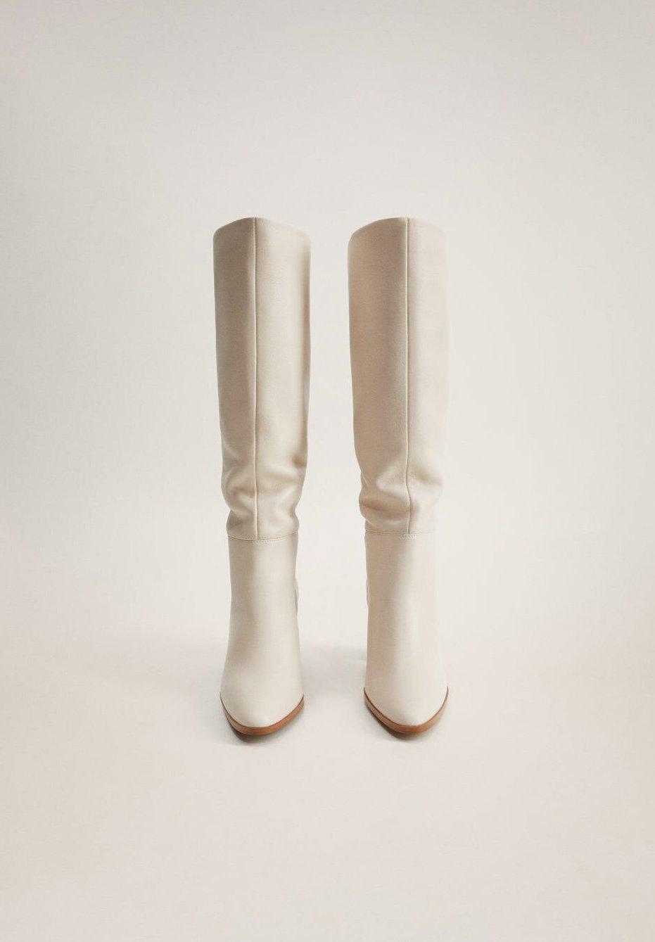 Migliore autentico Scarpe da Donna Mango SALMA Stivali con i tacchi råhvid