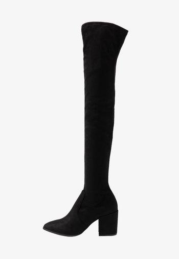 JANEY - Høye støvler - black