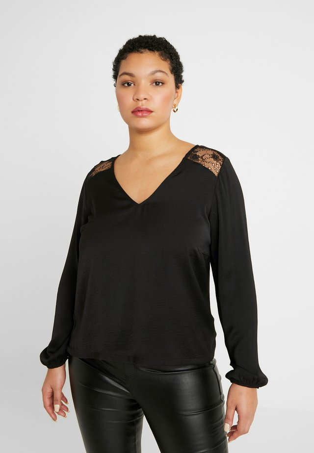 VMSANDRA V NECK - Blouse - black