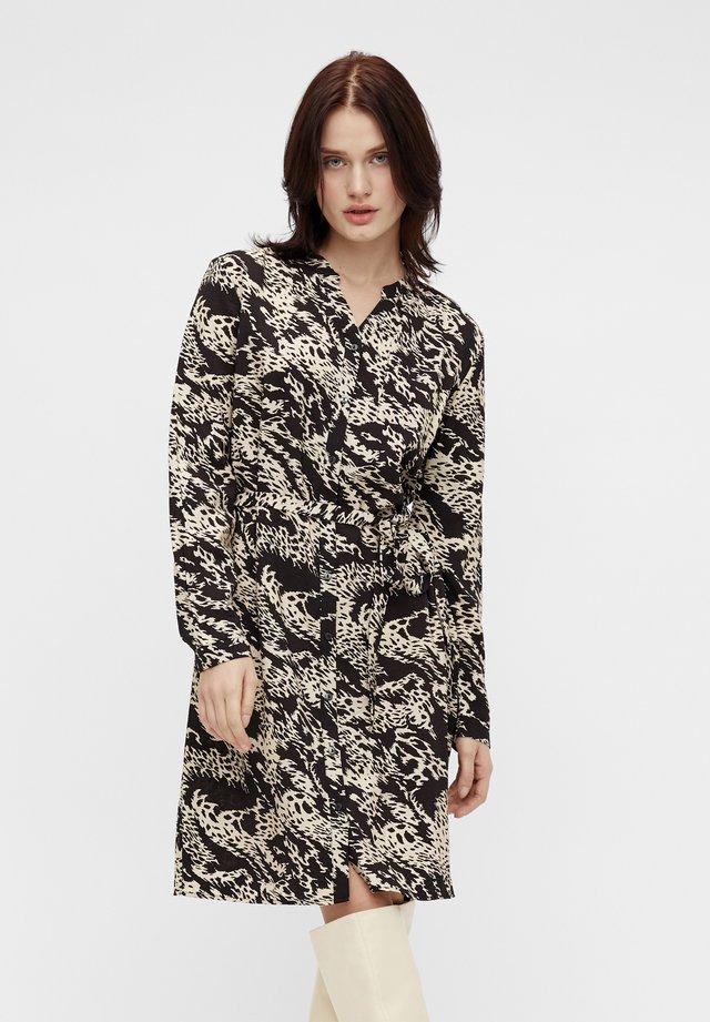 OBJTALUSA  BIRDY DRESS - Korte jurk - black/sandshell