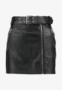 Topshop Petite - HARDWEAR DETAIL - A-snit nederdel/ A-formede nederdele - black - 3