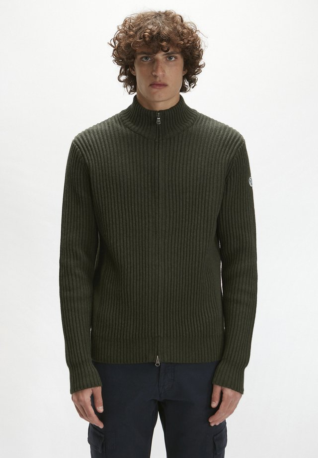 Cardigan - forest green