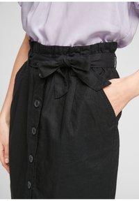 Q/S designed by - A-line skirt - black - 3