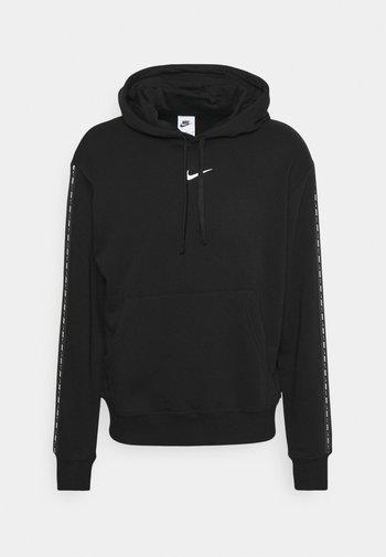 REPEAT HOODIE - Sweatshirt - black/(white)