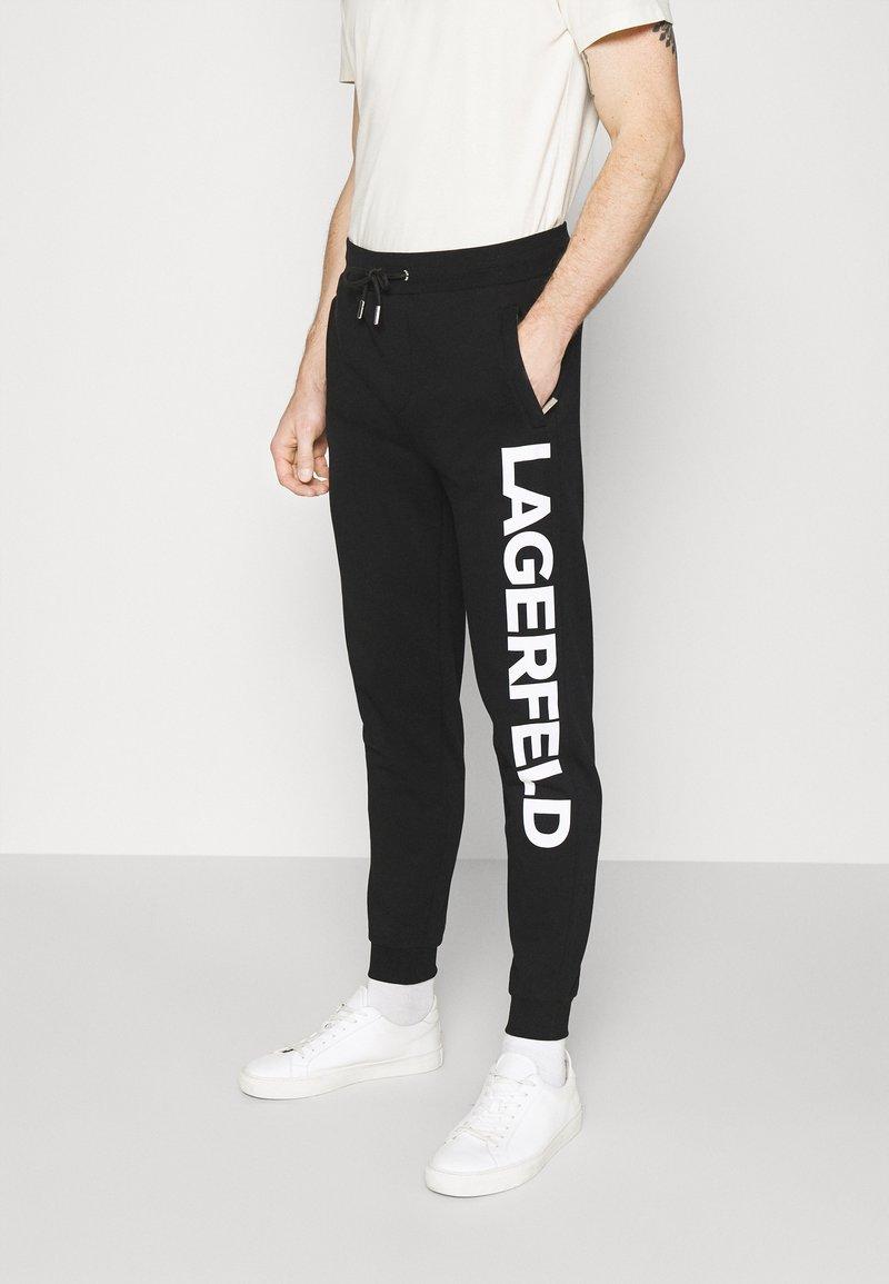 KARL LAGERFELD - PANTS - Teplákové kalhoty - black